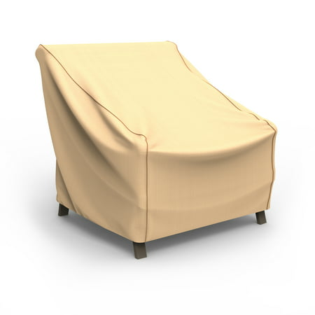 Budge Large Tan Patio Outdoor Chair Cover, NeverWet®