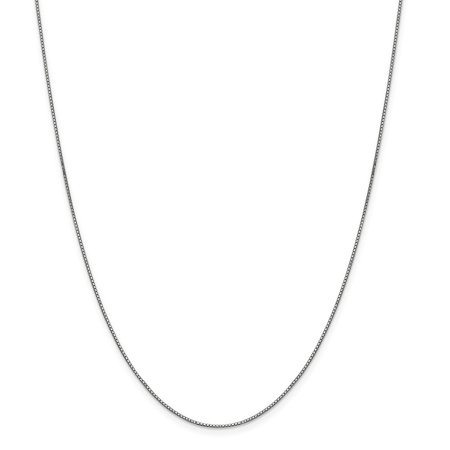 (ICE CARATS 14kt White Gold .90mm Link Box Necklace Chain Pendant Charm Fine Jewelry Ideal Gifts For Women Gift Set From Heart)