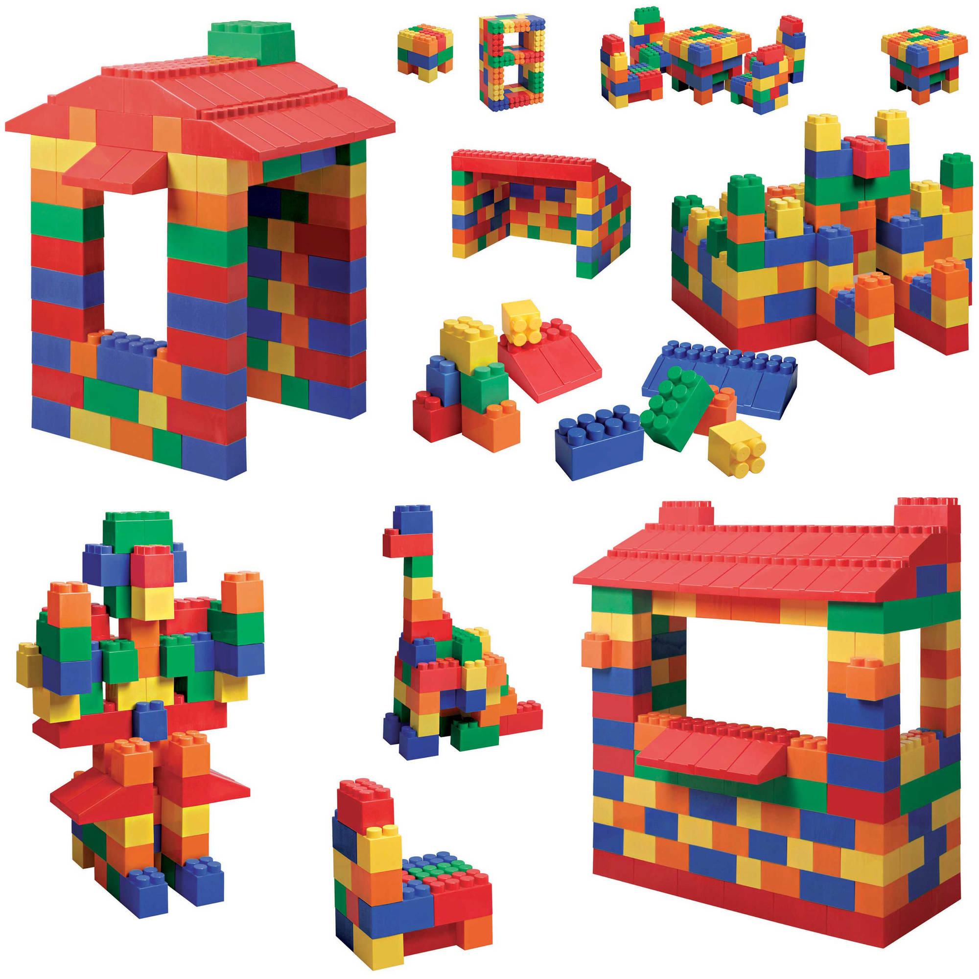 Mighty Big Blocks Set Assorted Sizes, 100-Piece by Generic