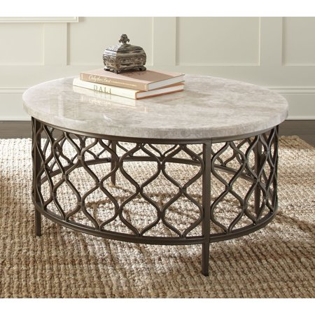 Greyson Living Rockvale Stone Top Round Coffee Table by ()