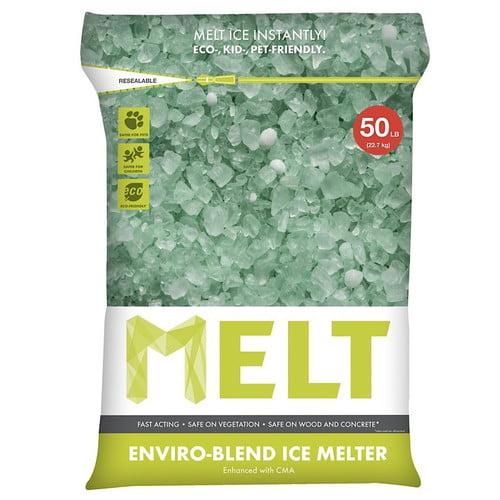 Snow Joe MELT Premium Environmentally-Friendly Blend Ice Melter w/ CMA (50 lb. Resealable Bag) – MELT50EB