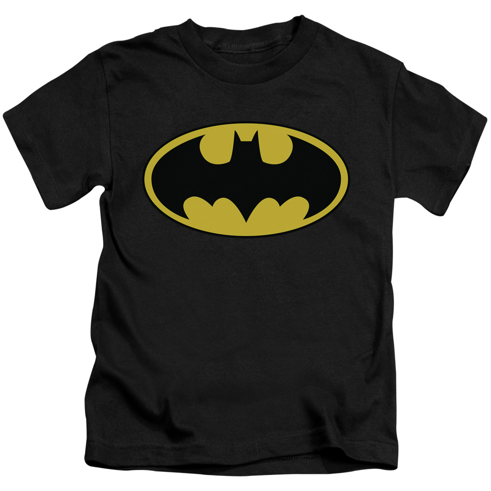 Batman Boys' Classic Logo Childrens T-shirt Black