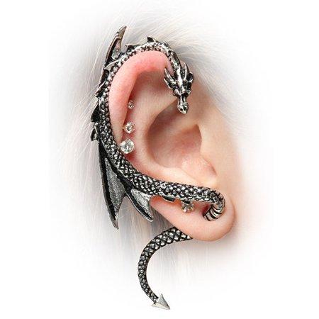 NEW Dragon Ear Wrap Earring Cuff Earrings Stud Clip On Punk Gothic Popular Gift ()