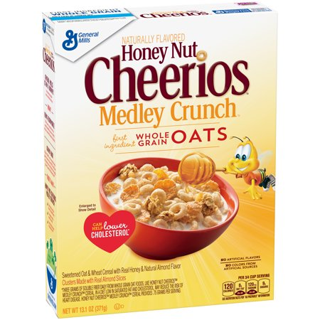 Honey Nut Cheerios Medley Crunch Cereal 13.1 oz Box