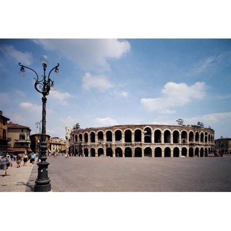 Verona Marble (The Arena Or Roman Amphitheatre in Verona, 1st Century, Marble and Brick Print Wall Art )