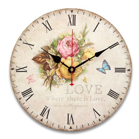 Silent No Ticking Wall Clock Retro
