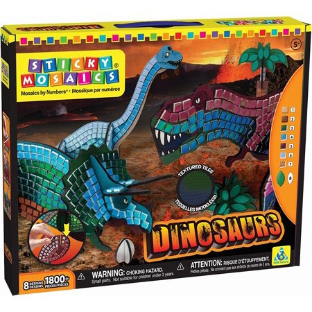 Sticky Mosaics Dinosaurs, Spot Jewelry Arlo 1152713 Oveelando6in11mos Creative Dragons First Pack Mosaic Kitties Mosaics Rock Lava Box Owls Flip Kids.., By The Orb Factory