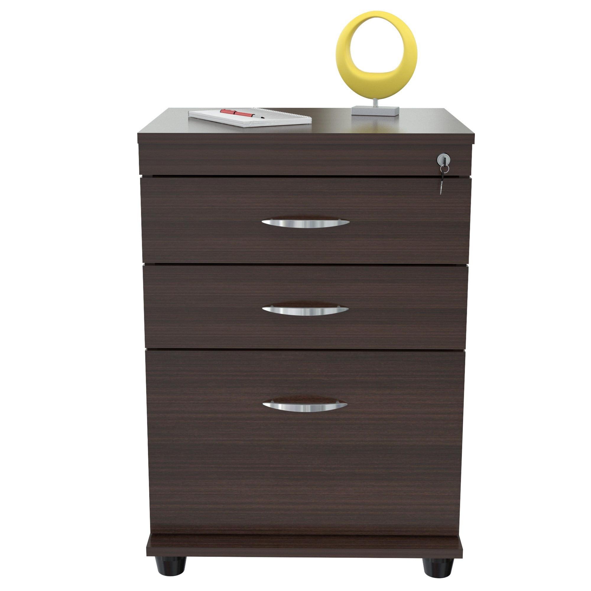 inval 3 drawer vertical wood lockable filing cabinet espresso rh walmart com