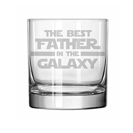 11 oz Rocks Whiskey Highball Glass Best Father In The Galaxy