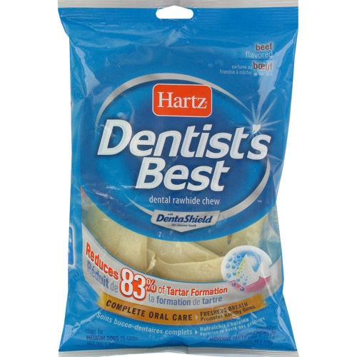 Hartz: Dentist's Best With Dental Shield Beef Flavored Chips For Dogs, 6 oz