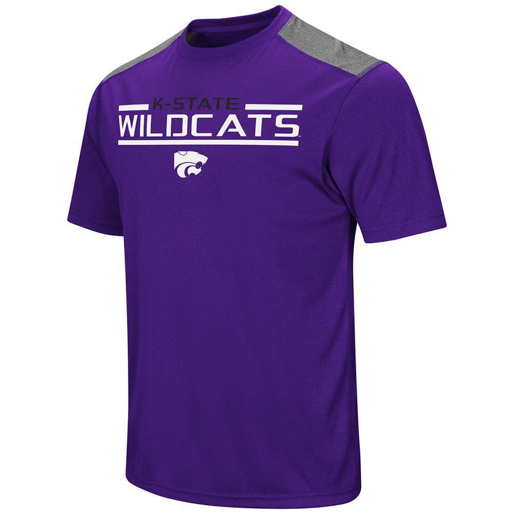 Mens NCAA Kansas State Wildcats Short Sleeve Tee Shirt (Team Color)