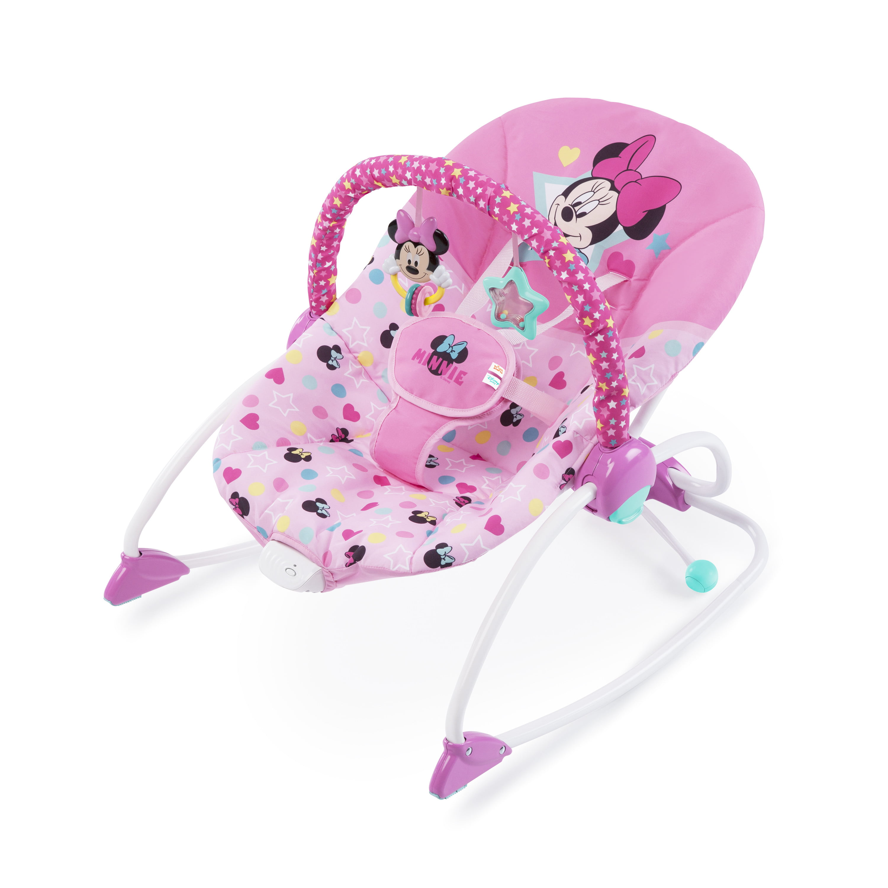 Bright Starts Disney Baby Minnie Mouse Stars & Smiles Infant to Toddler  Rocker with Soothing Vibration, Ages Newborn + - Walmart.com - Walmart.com