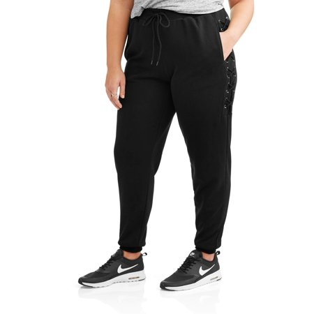 Paper Tee Juniors' Plus Lace Up Athleisure Jogger