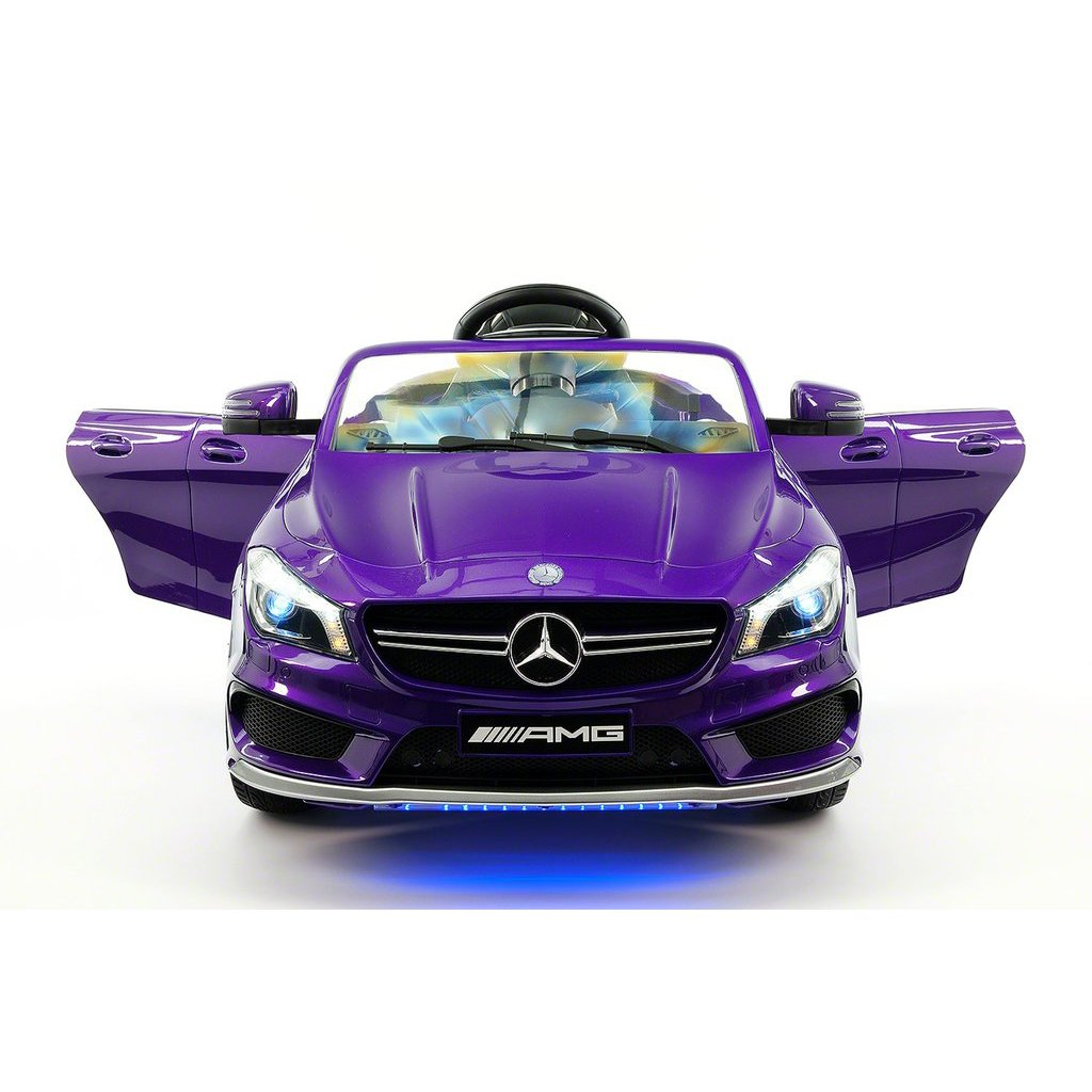 2018 Licensed Mercedes CLA45 AMG Electric Kids Ride-On Car,Girls&Boys,2-5 Years,MP3 Player,AUX Input,USB,Rubber Tires,PU Leather Seat,LED Body Trim,12V Battery Powered,Parental Remote|Purple Metallic
