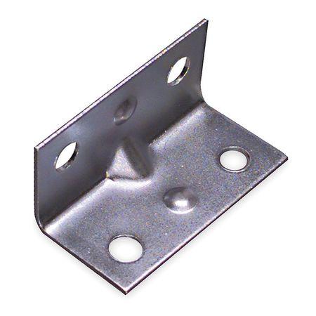 Corner Brace,Steel,3/4 Wx1 1/2 In L,PK4 ZORO SELECT 1WDJ4