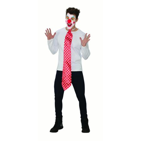 Economy Clown Jester Funny Mens Adult Circus Costume Accessory Kit (Funny Costumes Men)