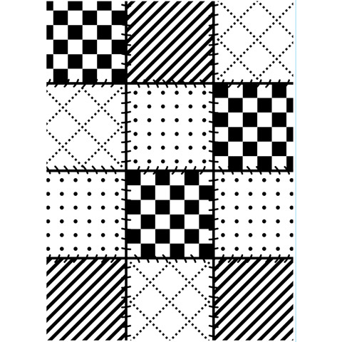 Embossing Folder Quilt Blocks 4.25X5.75 By Darice