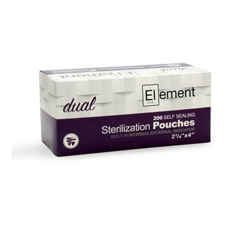 ELEMENT Self Seal Dual Indicator Sterilization Pouches 2 25 x 4 Case o