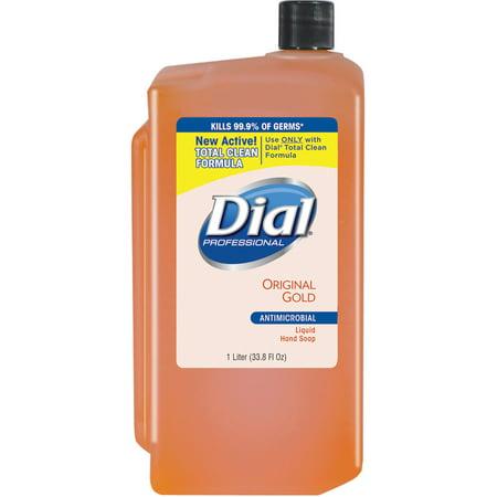 Liquid Gold Antimicrobial Soap (Dial, DIA84019, Original Gold Antimicrobial Soap Refill, 1 Each,)
