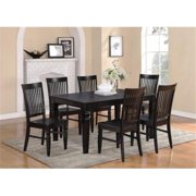 East West Furniture WET-BLK-T Weston Dining Table with 18 in Butterfly Leaf in Black Finish