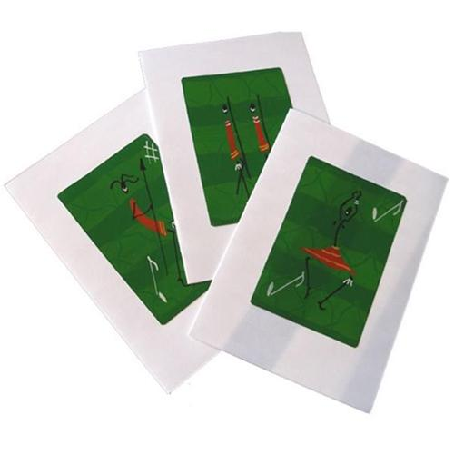 Global Crafts KPC003AL-153002 Set of Three African Life Greeting Cards Green