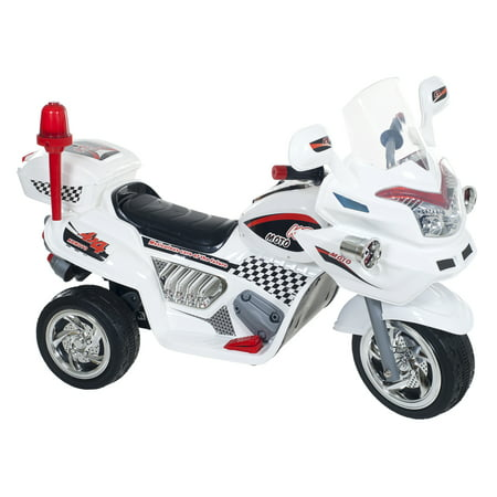 Ride on Toy, 3 Wheel Motorcycle Trike for Kids, Battery Powered Ride On Toy by Lil' Rider - Ride on Toys for Boys and Girls, 2 - 6 Year Old - White