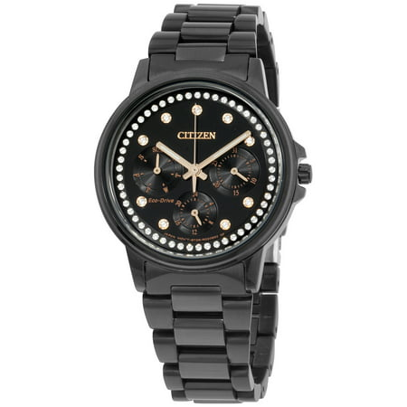 Citizen Silhouette Black Dial Stainless Steel Ladies Watch FD2047 58E