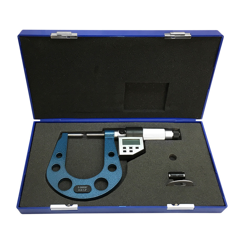 0.3-1.3'' Electronic Digital Disc Brake Micrometer 0.00005'' IP54 Direct RS232 Output