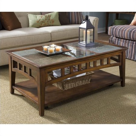 Riverside Andorra Rectangular Coffee Table in Eden Burnished Cherry