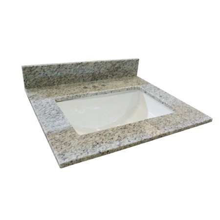 Design House 563338 Granite Single Bowl Vanity Top 31x22, Kashmir (Arctic Granite Single)