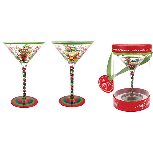 Top Shelf Don't Get Your Tinsel in a Tangle Martini Glass