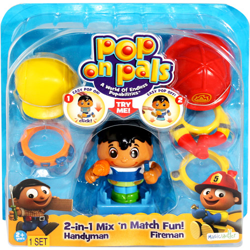 Pop On Pals Figures, Fireman and Handyman 20026619