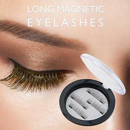 ab3a667bbf1 Magnetic eyelashes, New Dual Magnetic False Eyelashes Cover the Entire  Eyelids - 4pcs Ultra Thin 3D Fiber Reusable Best ...