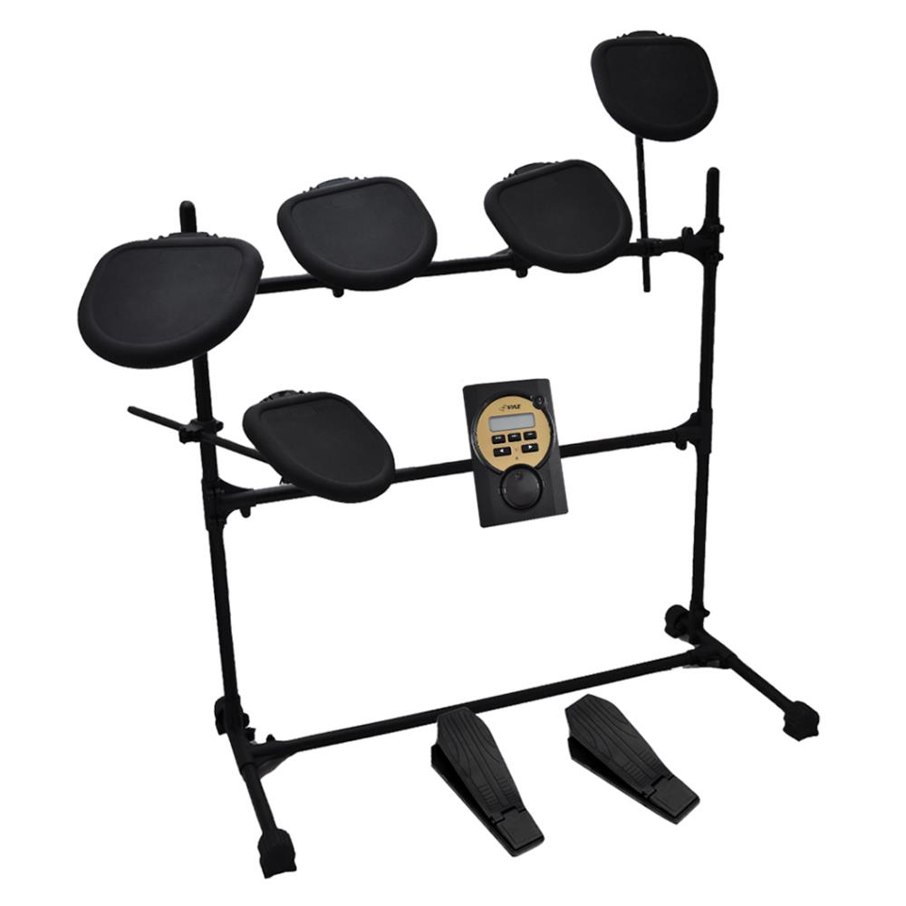 Pyle PED041 - Digital Drum Set, Electronic Drum Machine System (5-Pad Drum Kit)