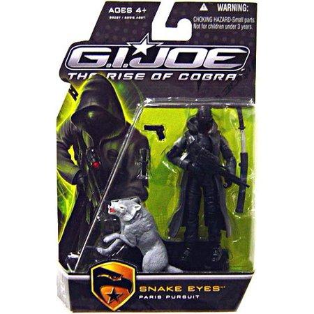 GI Joe The Rise of Cobra Snake Eyes Action Figure [Paris Pursuit, Gray