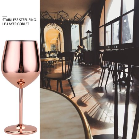 Stainless Steel Red Wine Glass Copper Plated Single Layer Goblet Kitchen Tools - image 10 of 10