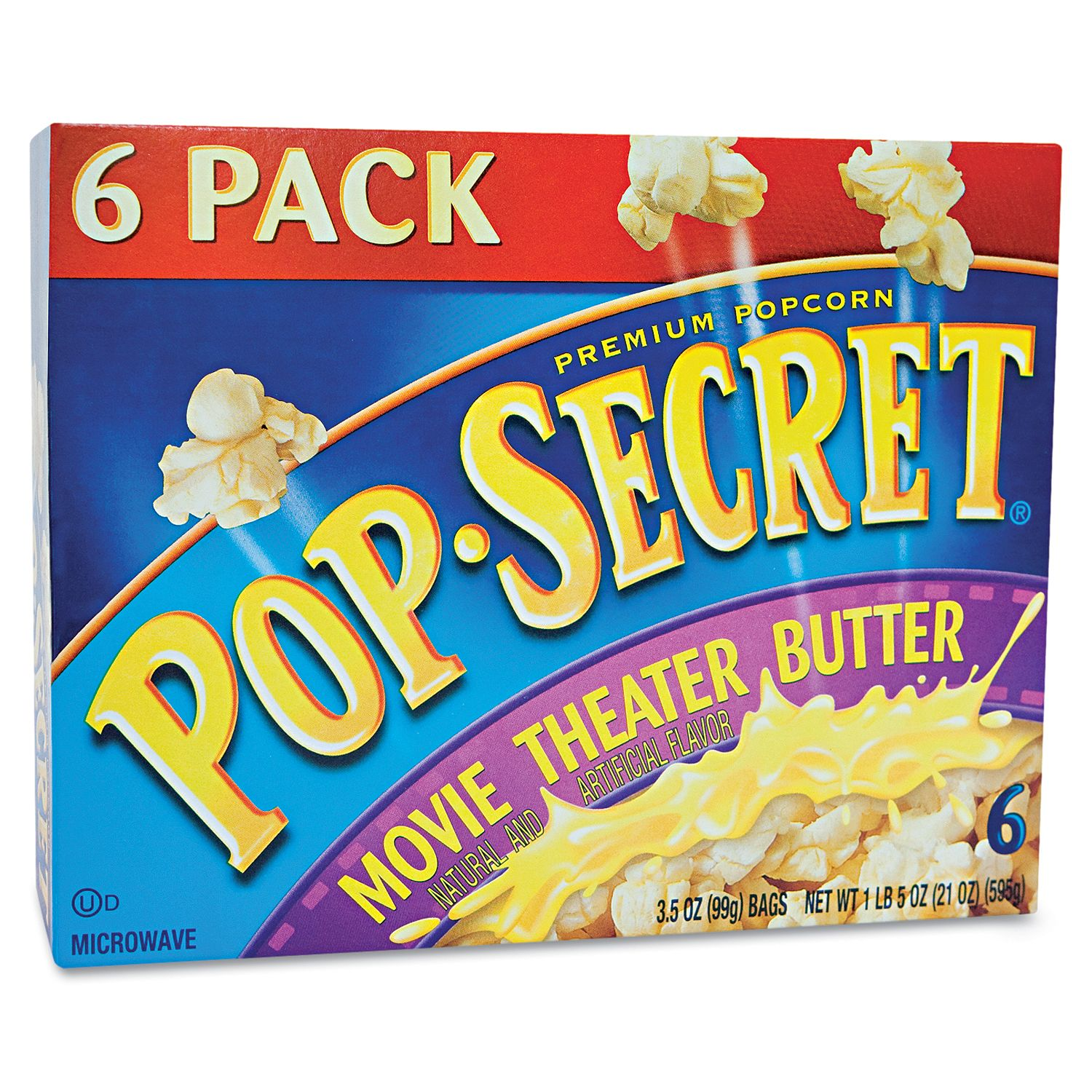 Pop Secret Microwave Popcorn - Movie Theater Butter - 6 bags- Pack of 2