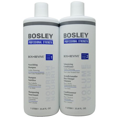 Bosley Bos Revive Shampoo & Conditioner 1 Liter for Non Color-Treated