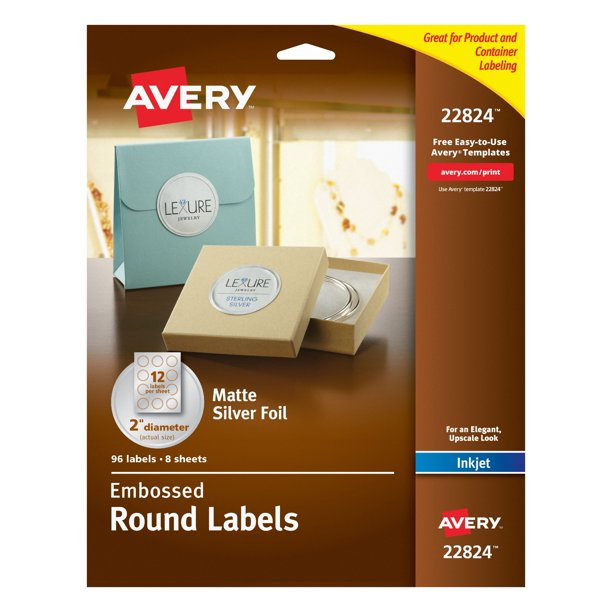 This is a photo of Clean Avery Labels 8293 Walmart