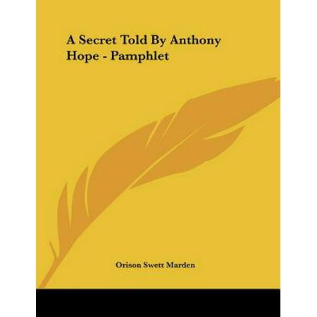 A Secret Told by Anthony Hope - Pamphlet
