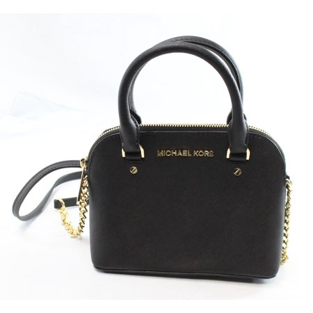 632988664f64 Michael Kors - Michael Kors NEW Black Saffiano Cindy Dome Mini Crossbody Bag  Purse - Walmart.com