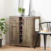 South Shore Vietti Bar Cabinet and Bottle Storage, Multiple Finishes