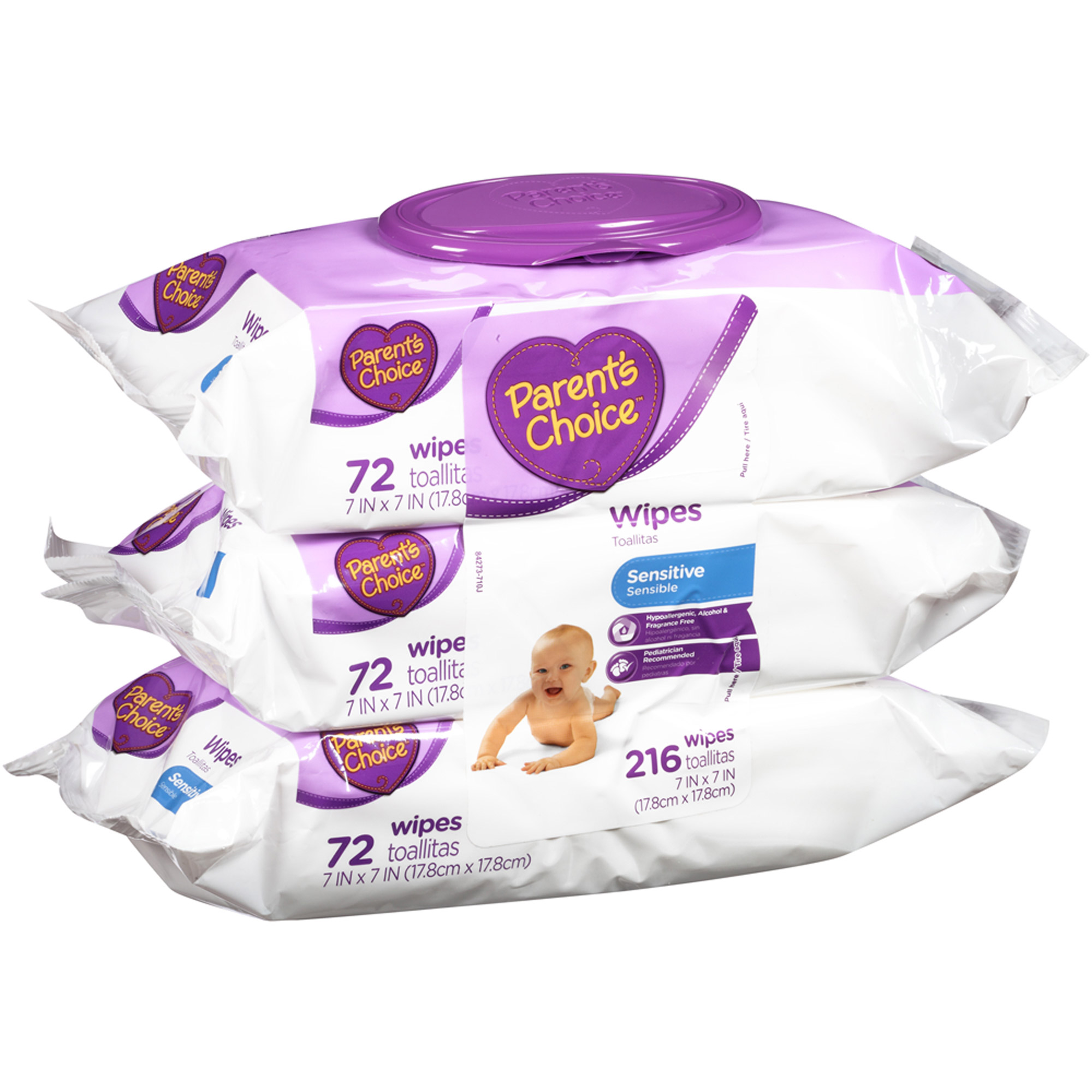 Parent's Choice Sensitive Wipes, 216 sheets