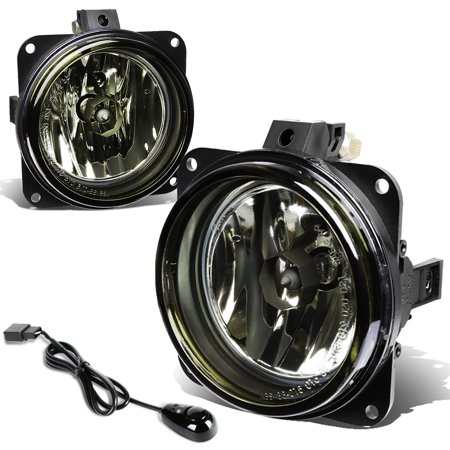For 2002 to 2006 Escape / Focus / Mustang Pair of Bumper Driving Fog Lights + Wiring Kit + Switch (Smoked Lens) 03 04 (99 04 Mustang Fog Light Wiring Harness)