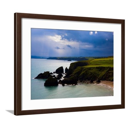 Ballydowane Beach, Copper Coast, County Waterford, Ireland Framed Print Wall Art