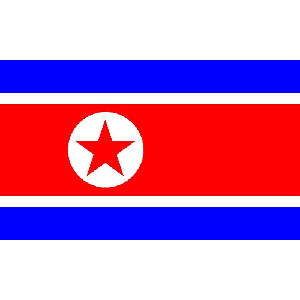 North Korea Flag with Grommets 3ft x 5ft