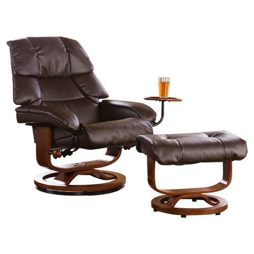Red Barrel Studio Beltway Manual Swivel Glider Recliner With Ottoman
