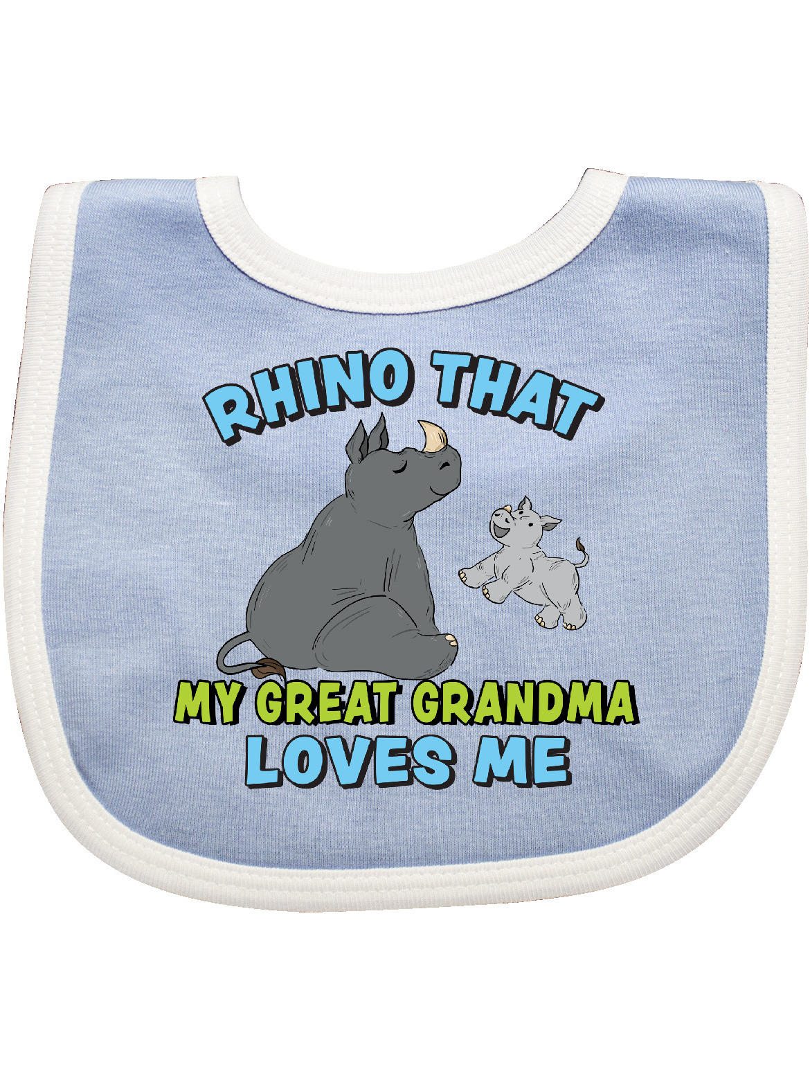 inktastic Rhino That My Great Grandma Loves Me with Cute Rhinos Newborn Layette
