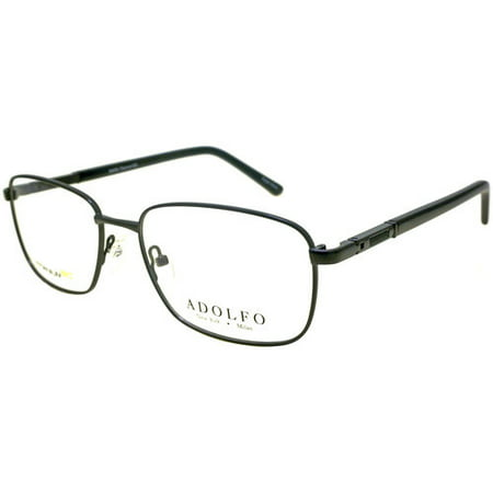 ADOLFO Mens Prescription Glasses, Corporal Gunmetal Black