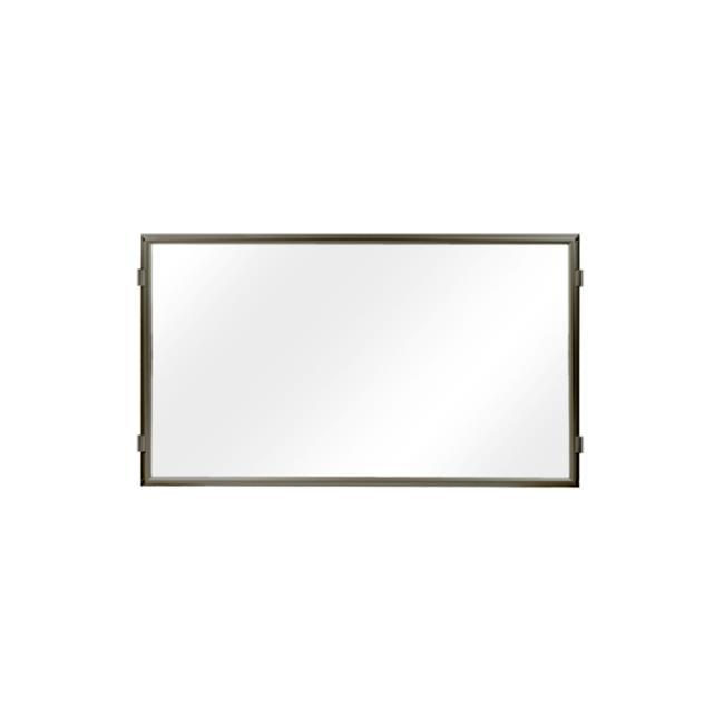 Lavi Industries 50-HFP1001-MB-CL Hinged Frame Sign Panel And Barrier, Matte Black